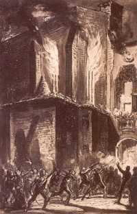 Barcelona, quema de conventos 1835
